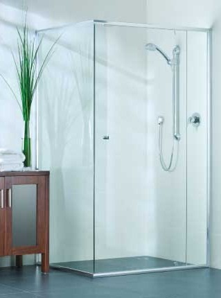 Evolution shower screens feature a chic semi-frameless door and conform to many different bathroom layouts. & Semi-Framed | Horsham Doors u0026 Glass